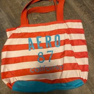 Aeropostale Aero Orange and White Tote bag